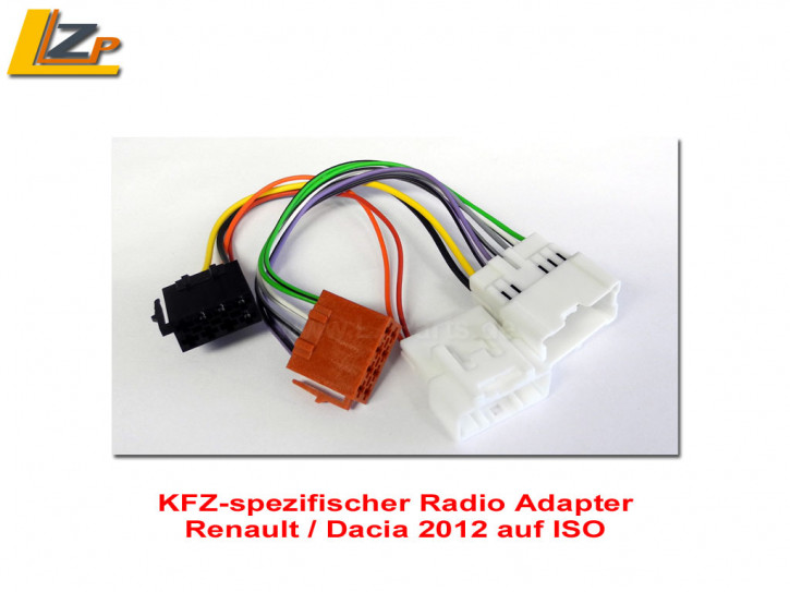ISO Adapter Renault / Dacia ab 2012