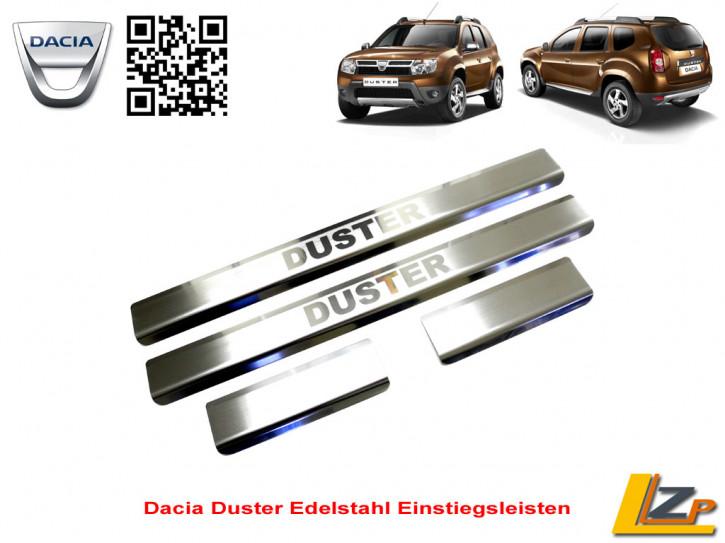 Dacia Duster Edelstahl Einstiegsleisten Set