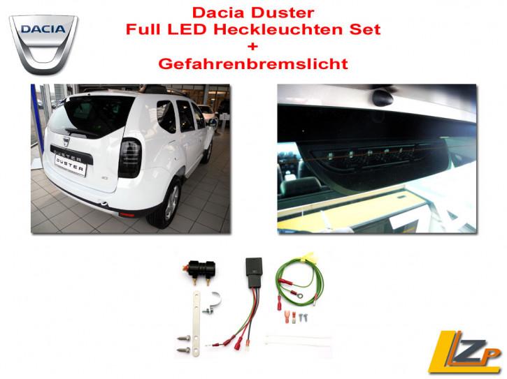 Dacia Duster Full LED Heckleuchten Set + GBL