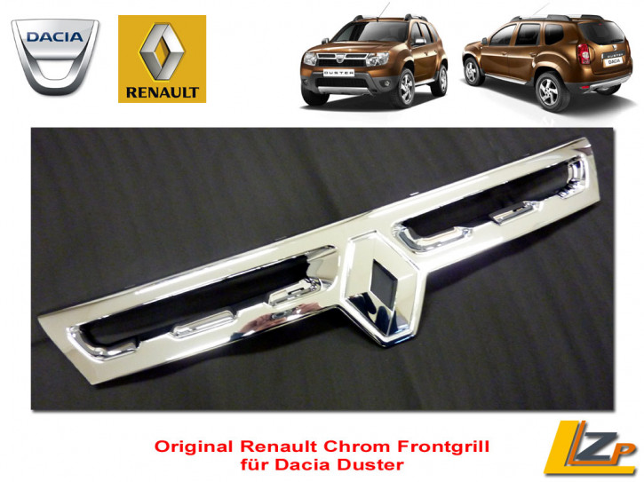 Dacia Duster Chrom Frontgrill mit Renault Rhombe / Rombe