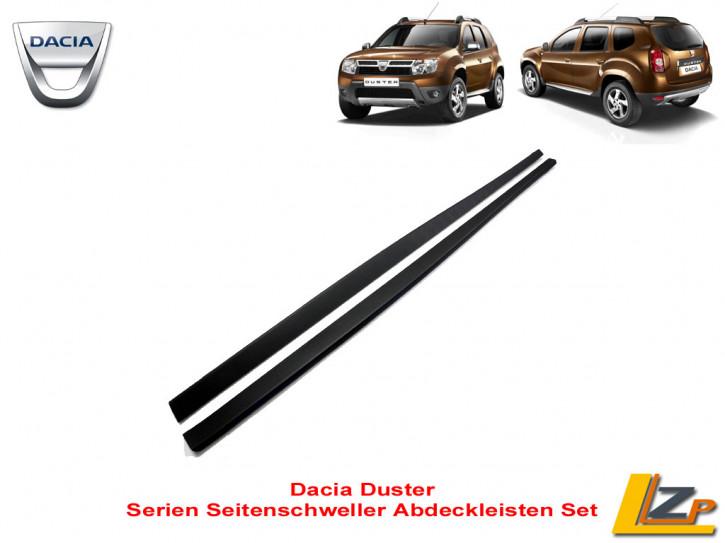 Dacia Duster I Seitenschweller Abdeckleisten Set Kunststoff Dunkel