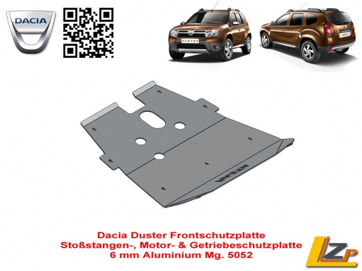 Dacia Duster Unterfahrschutz Front von Rasta 4x4