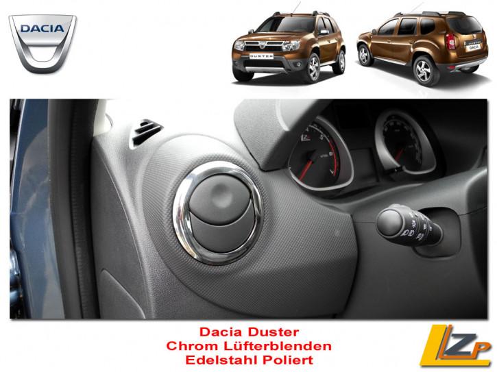 Dacia Chrom Lüfterblenden Set Edelstahl Poliert