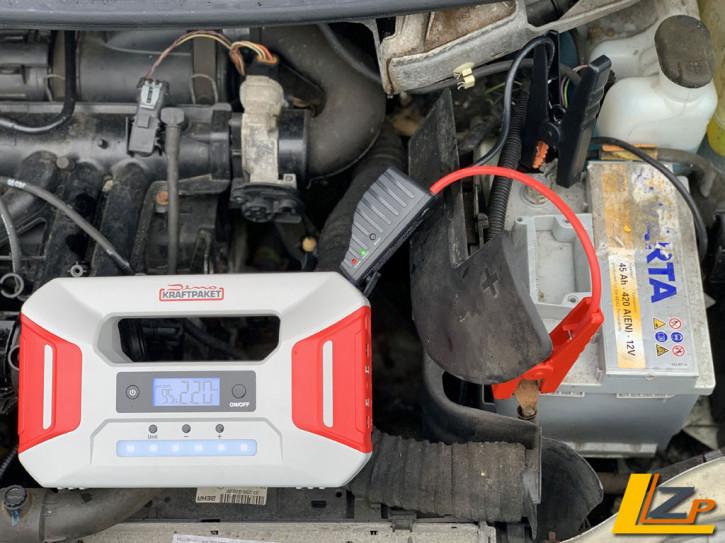 Starthilfegerät mit Powerbank 12V · 600A und Kompressor
