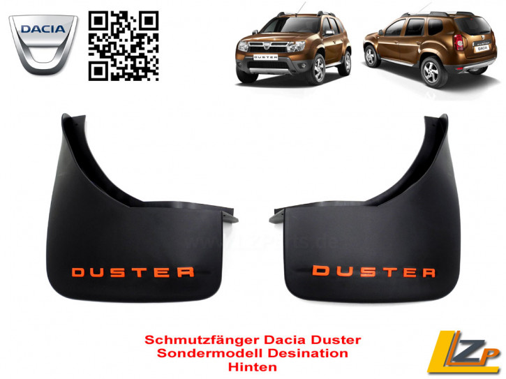 Dacia Duster Schmutzfänger hinten Sondermodell Destination