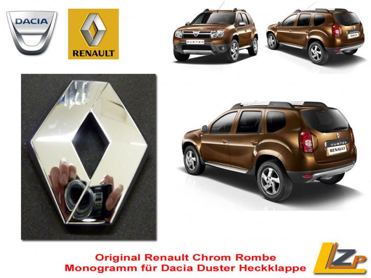 Dacia Duster Renault Rhombe / Rombe Monogramm für die Heckklappe