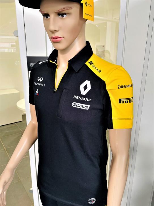 Renault F1 Poloshirt Herren in Schwarz