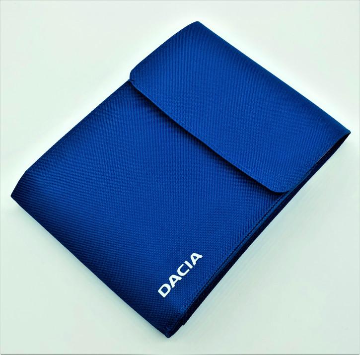 Dacia Bordmappe Blau mit DACIA Schriftzug