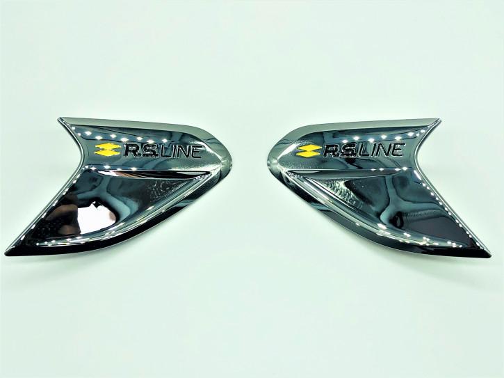 Renault Clio V RS.LINE Emblem in Chrom für Kotflügel Set Links & Rechts