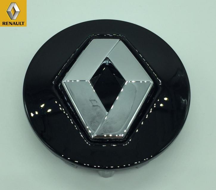 Renault Standard Nabendeckel Schwarz für Alufelge