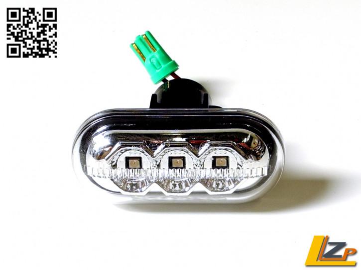 LED Seitenblinker Chrom Dacia / Renault