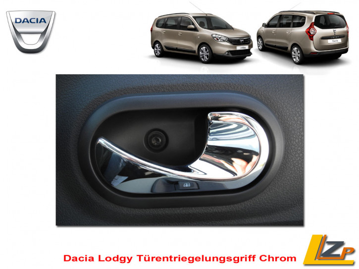 Lodgy Türentriegelungsgriff Chrom Set