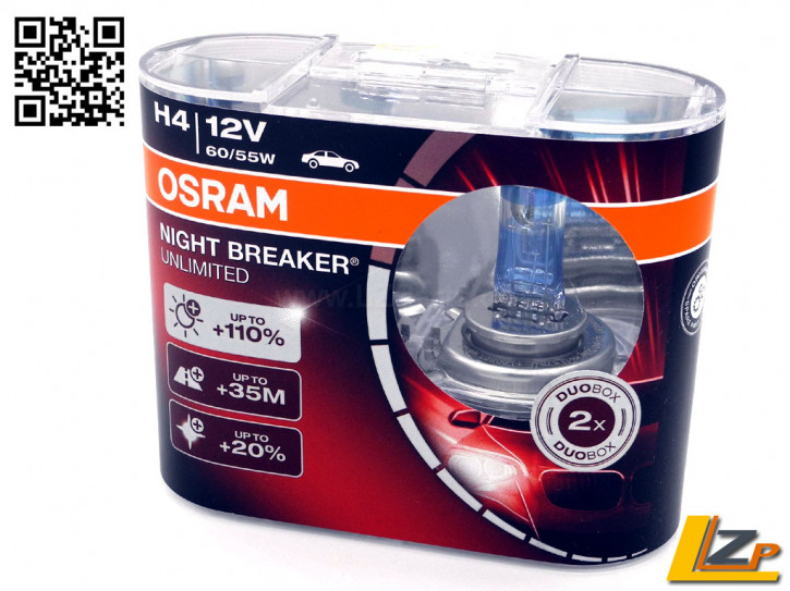 OSRAM H4 Night Breaker UNLIMITED +110% 2er Set