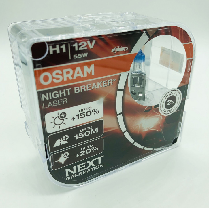 Osram Night Breacker LASER 150% mehr Licht 2er Set