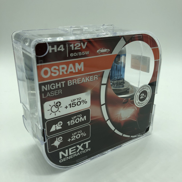 Osram Night Breacker LASER 2er Set H4