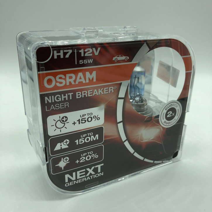 Osram H7 Night Breacker LASER 150% 2er Set