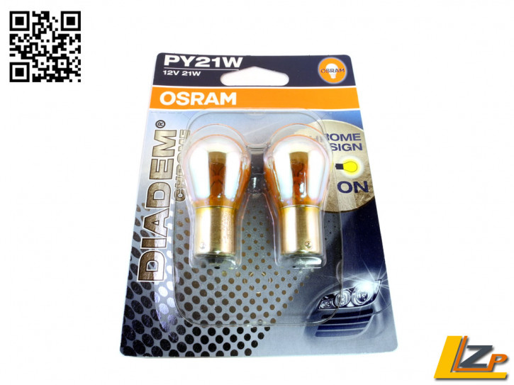 Osram PY21W DIADEM Chrome 2er SET (gelbe Blinkerlampe)