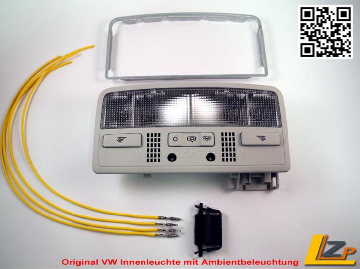 Original VW Innenraumleuchte mit Fahrer- und Beifahrer Leselampe und Ambientbeleuchtung
