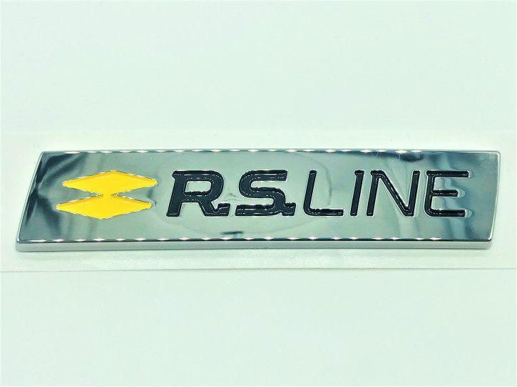 Renault Clio V RS.LINE Emblem in Chrom