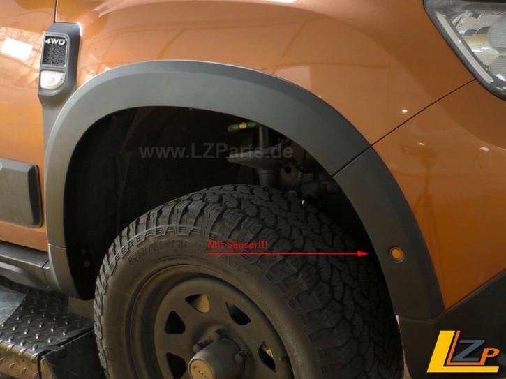 Dacia Duster II Radlaufschutz / Kotflügelschutz * mit Frontsensor komplett Set