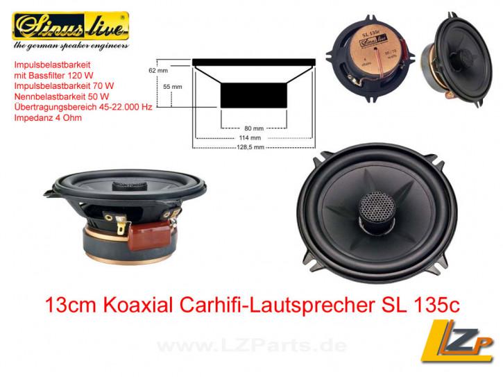 Sinuslive SL-135c 13cm Koaxial Carhifi-Lautsprecher