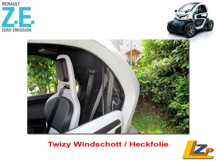 Twizy Windschott / Heckfolie Set