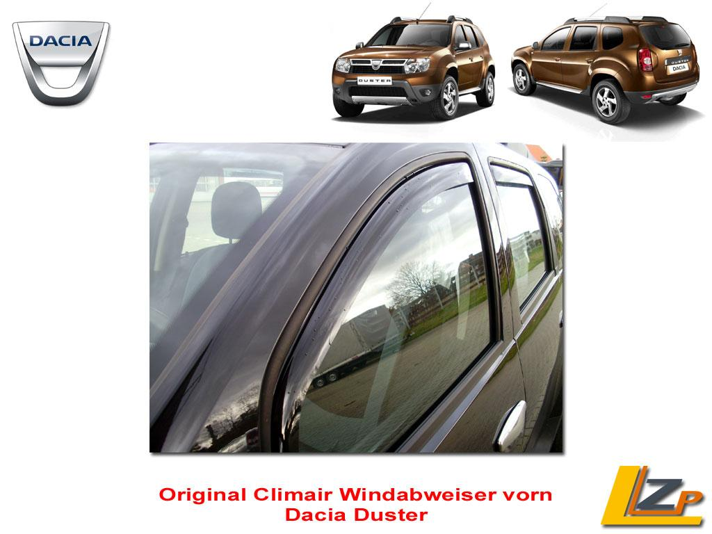 dacia duster regen und windabweiser vorn von climair 033703d. Black Bedroom Furniture Sets. Home Design Ideas