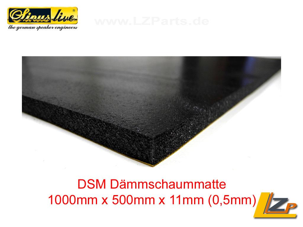 dsm d mmschaummatte 1000mm x 500mm x 11mm 13228. Black Bedroom Furniture Sets. Home Design Ideas