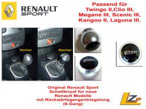 Original Renault Sport Schaltknauf 6 Gang