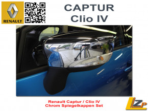 Renault Captur / Clio IV Chrom Spiegelkappen Set
