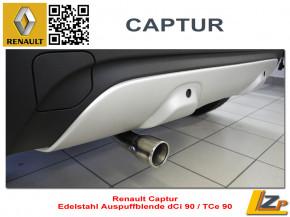 Renault Captur Auspuffblende dCi 90 / TCe 90