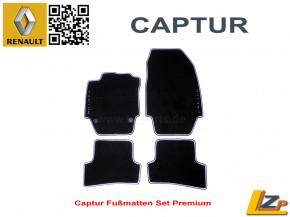 Renault Captur Teppich Set Premium