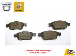 Keramik / Ceramic Bremsbeläge ATE Renault / Dacia