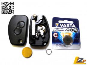 Dacia / Renault zwei Tasten Funkklappschlüssel Gehäuse MK2 Valeo