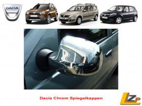 Dacia Duster Sandero Chrom Spiegelkappen Edelstahl Poliert