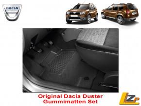 Dacia Duster Phase 1 Fussmatten Gummimatten Set 4x2