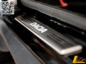 Edelstahl Einstiegsleiste Beleuchtet mit Dacia Schriftzug