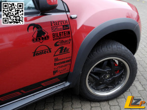 Dacia Duster Radlaufschutz / Kotflügelschutz komplett Set 4-teilig