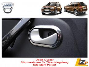 Dacia Chrom Rahmen Türentriegelung Set Edelstahl Poliert