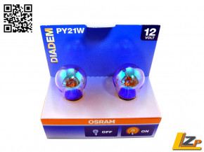 Osram PY21W DIADEM 2er SET (gelbe Blinkerlampe)