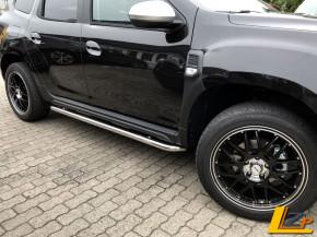 Dacia Duster II Seitenschwellerrohr Set Chrom mit ABE