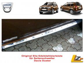 Dacia Duster Seitenschweller Chrom Zierleiste aus Edelstahl mit Duster Schriftzug