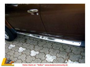 Dacia Duster Seitenschweller Chrom Zierleiste aus Edelstahl mit ELIA Schriftzug