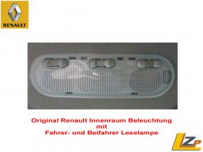 Original Renault / Dacia Innenraumleuchte mit Fahrer- und Beifahrer Leselampe