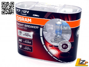Osram H7 Night Breaker UNLIMITED +110% 2er Set