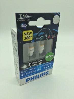 Philips LED W5W (T10) White Light X-treme Vision 4000K 2er Set