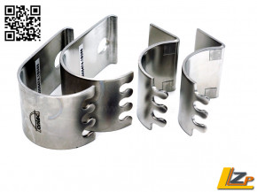 Antec Frontbügel Klemm- Lampenhalter für Rohr 42mm silber