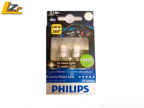 Philips LED W5W (T10) White Light X-treme Vision 4000K 2er Set