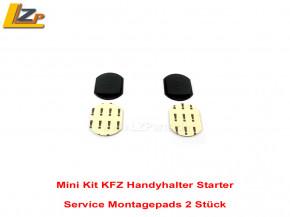 Mini Kit KFZ Handyhalter Service Pack Montagepads 2 Stück